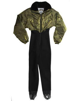 Gold & Black Salopette Ski Suit