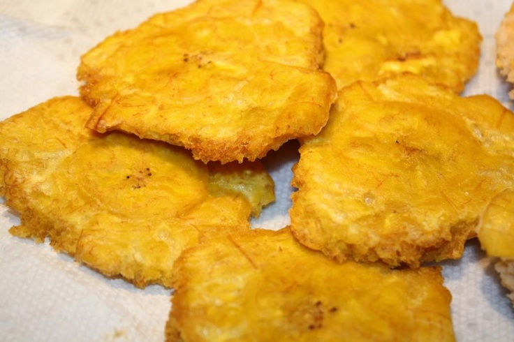 Tostones. I don't think it was wise to pin these so early in morning ...
