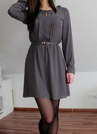Kaufe meinen Artikel bei #Kleiderkreisel http://www.kleiderkreisel.de/damenmode/kurze-kleider/116673626-oasis-graues-skaterkleid-kleid-in-xs34-mit-golddetails
