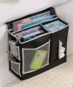 Amazon.com: Richards Homewares 6 Pocket Bedside Storage Mattress Book Remote Caddy (Caddy, Black): Home & Kitchen