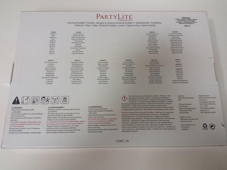 PartyLite Adventný kalendár - popis