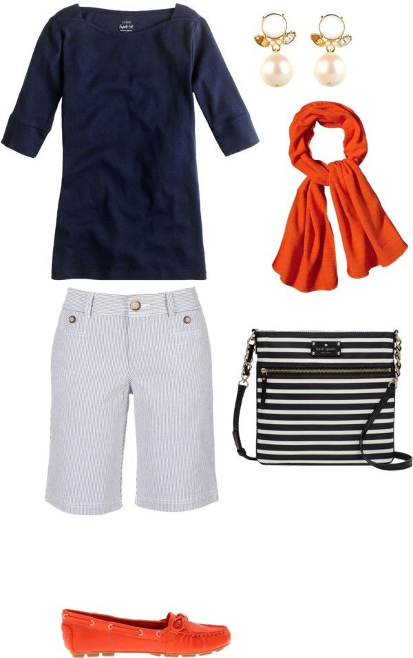 """Shorts Outfit for Women Over 60"" by kimkperez on Polyvore... just don't wear these in a fashionable city (added by tina boomerina)"