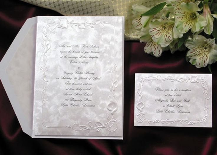 Wedding Invitation Set Embossed Calla Lily 25 Calla Lily Wedding Invitations,  Reception Cards, Response