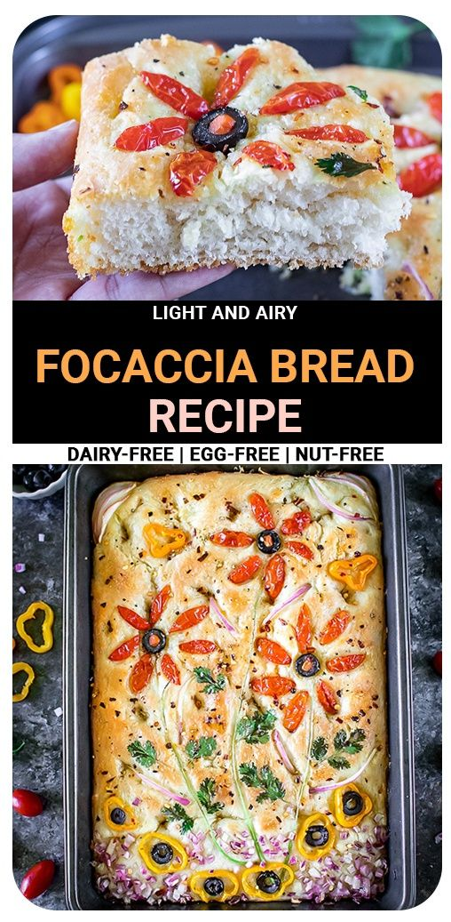 Light and airy Focaccia bread recipe infused with Italian ...
