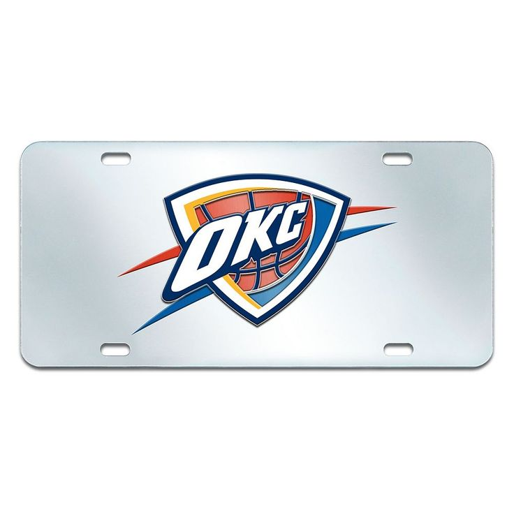 Oklahoma City Thunder Mirror-Style License Plate, Multicolor