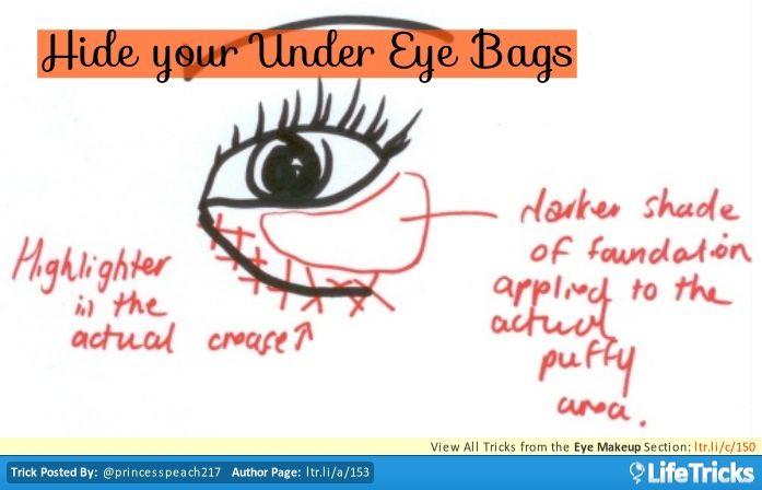 Eye Makeup - Hide your Under Eye Bags