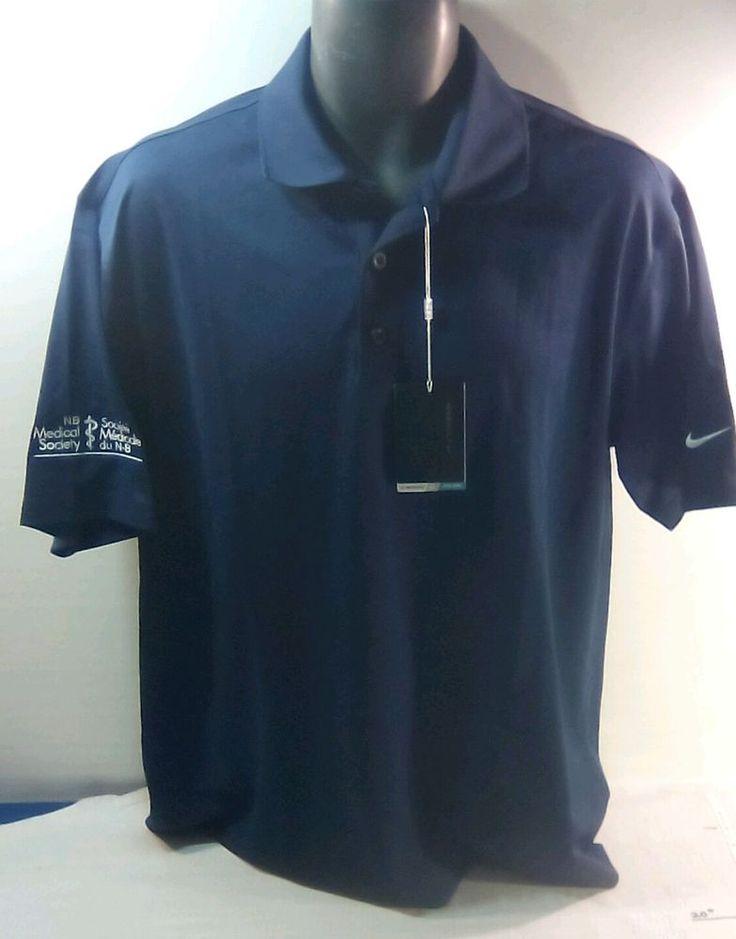 New Nike Dri Fit Golf Polo Shirt Nike Short Sleeve Mens Polo Shirt Large nwt nb #Nike #GolfPolo