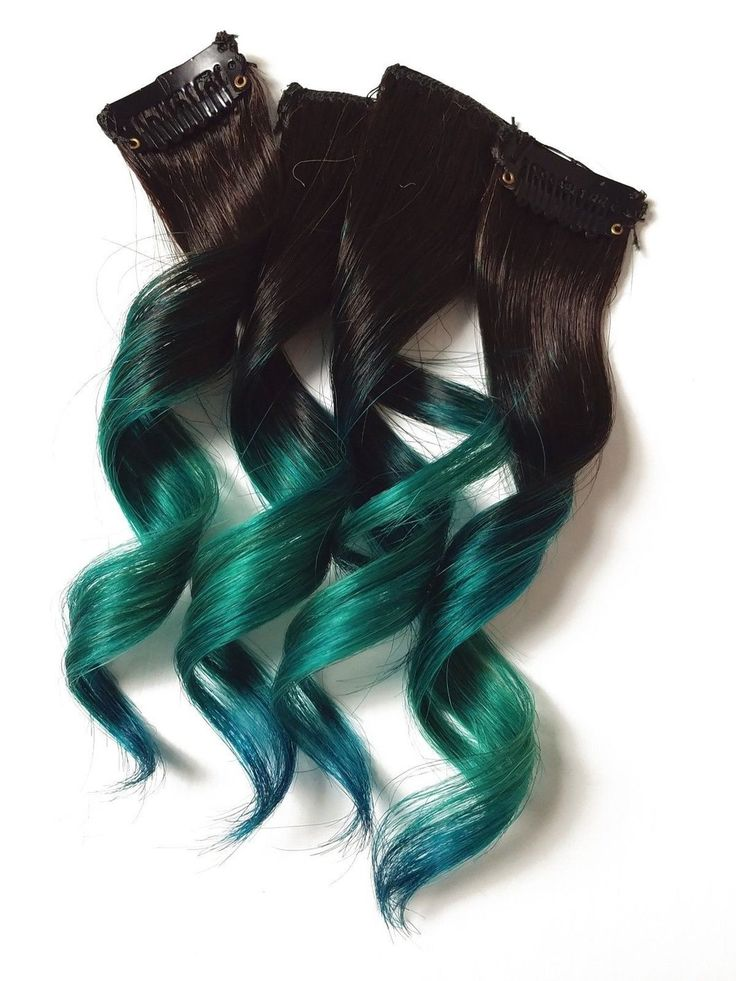 #1B Emerald Mermaid Ombre Hair (4 Pieces)