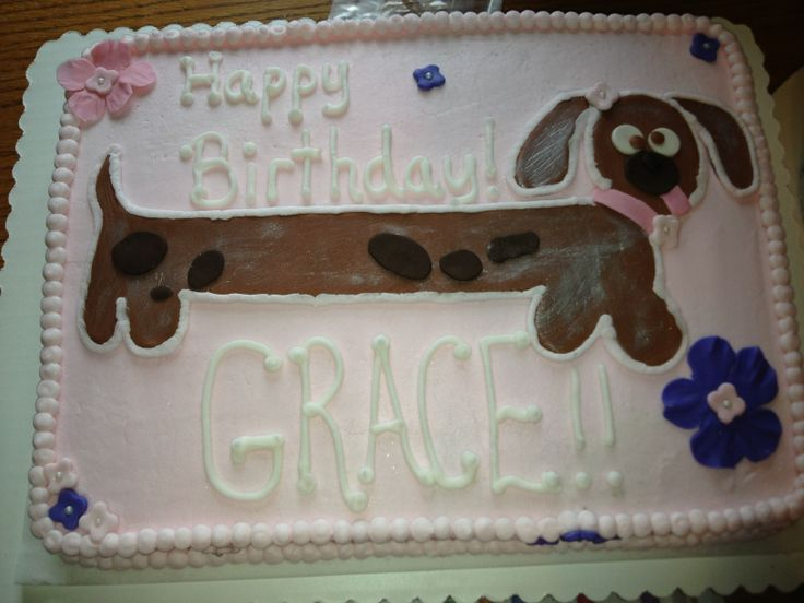 Sausage Dog Cake Decorations : Weiner Dog cake Cakes with Grace Pinterest Cake and ...