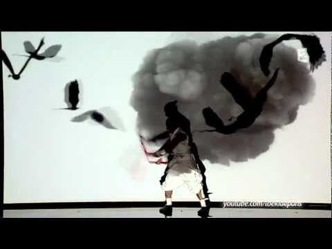 Black Sun is a meticulously choreographed projection of motiongraphics onto dance,combining traditional and modern elements of Japanese culture and martial arts.