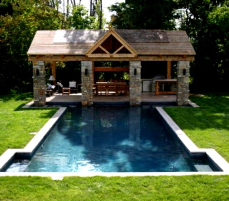 traditional patio design ideas with fireplace and wooden pergola backyard landscaping rectangular pool swimming green grass - Pool And Patio Designs