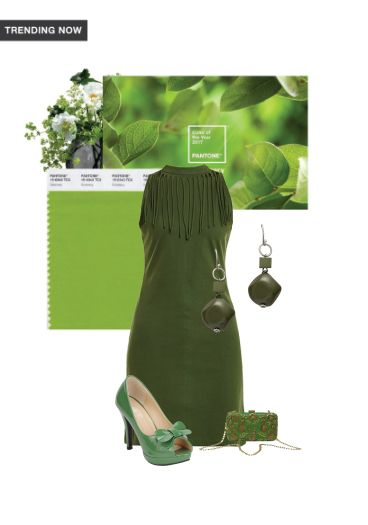 'greenery' by me on Limeroad featuring Solids Green Dresses, Green Sandals with Green Clutches