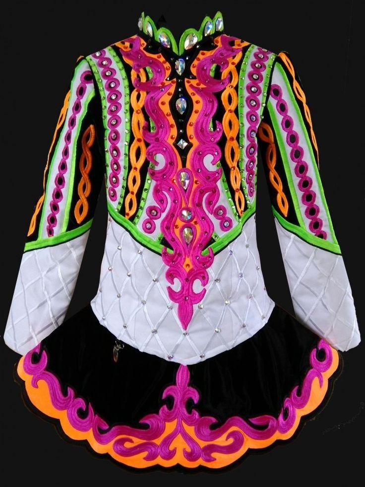 Cute Black Celtic Art Irish Dance Dress Solo Costume For Sale