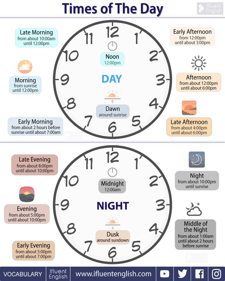 Times of The Day - English Vocabulary Lesson