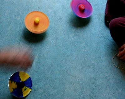 Here is a FAB activity/craft for the kids!  Make these Color Spinners from an old CD... with instructions how to at  Mama's Little Muse