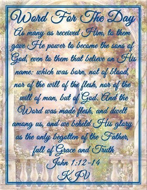 John 1:12-14 KJV | He Walks With Me | King james bible