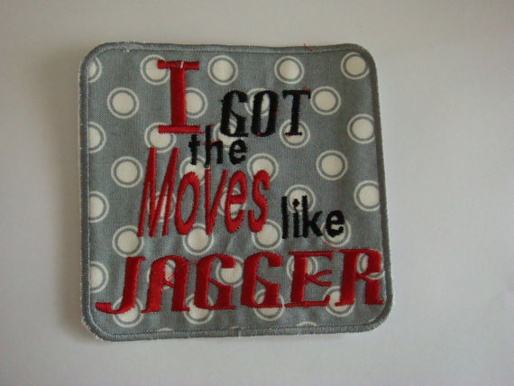 Cute phrase iron on applique patch I got by EmbellishmentJunkies, $4.15