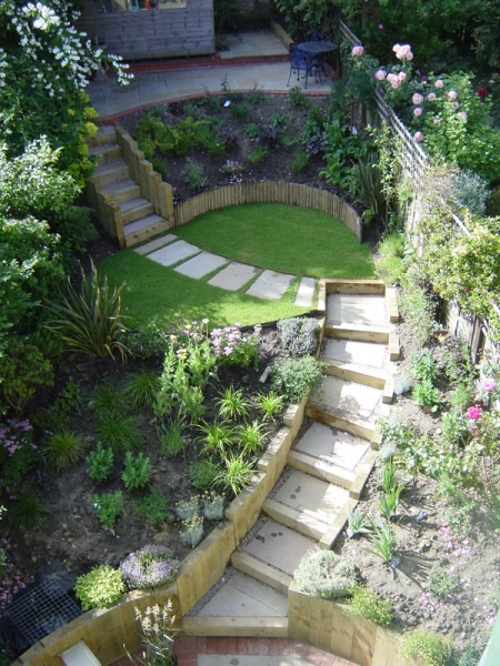 Layered steep garden- can we create 'garden nooks' on the way up?