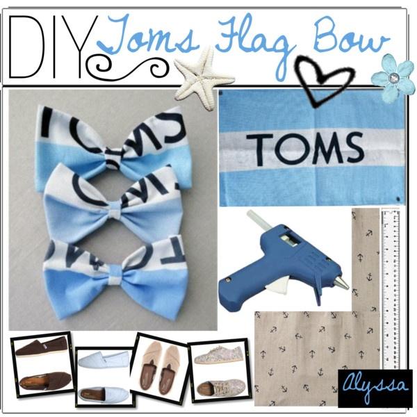 DIY Toms Flag Bow -Alyssa