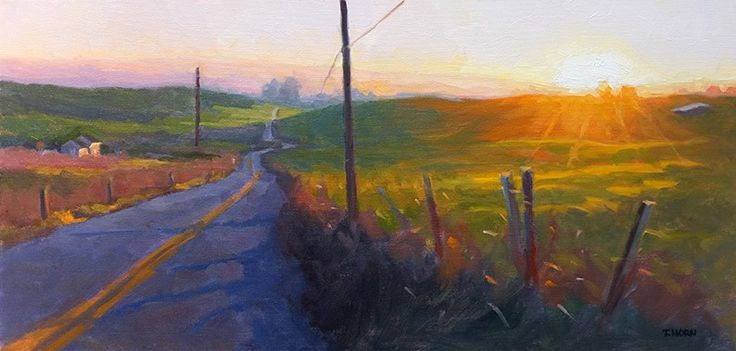 "Timothy Horn ""Just Before Sundown"" 12x24"""