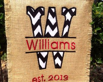 Personalized Garden Flag in Black Chevron & 81 best SEWING - GARDEN u0026 DOOR FLAGS images on Pinterest | Burlap ... pezcame.com