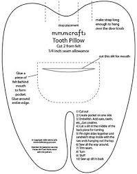 Resultado de imagem para molde dentinho de feltro