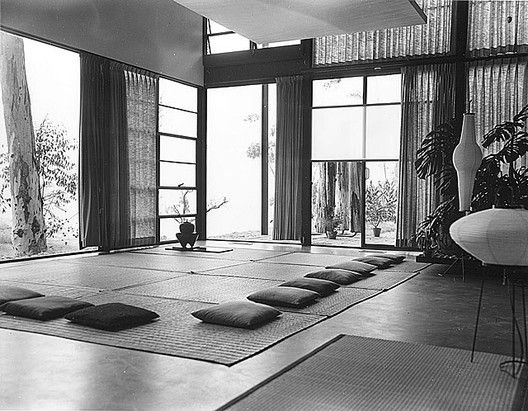 © Library of Congress Eames House living room