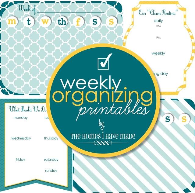 Weekly Organizing Printables
