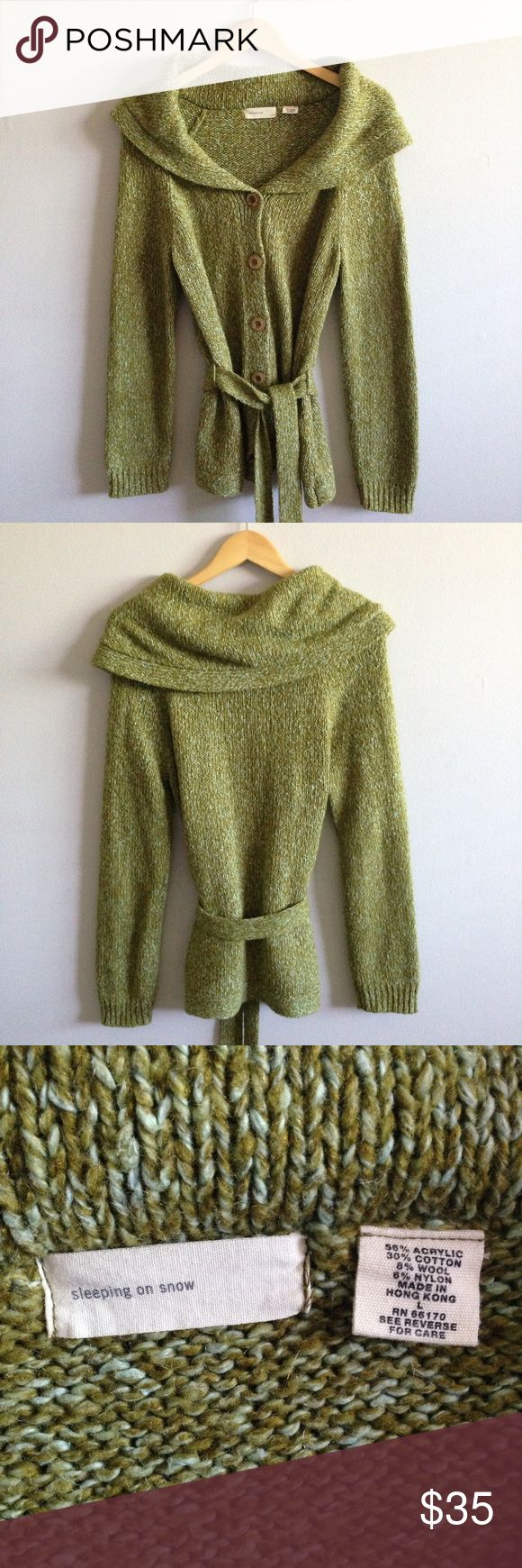 SALE * Sleeping On Snow Cowl Neck Sweater GUC with some pilling Anthropologie Sweaters Cardigans