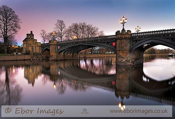 Skeldergate Bridge dusk - York  www.eborimages.co.uk