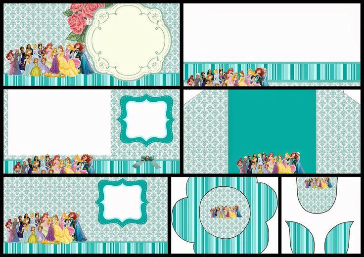 All Disney Princess: Free Printable Invitations.