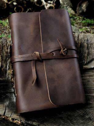 ♂ Dark Brown Strap Travel Journal