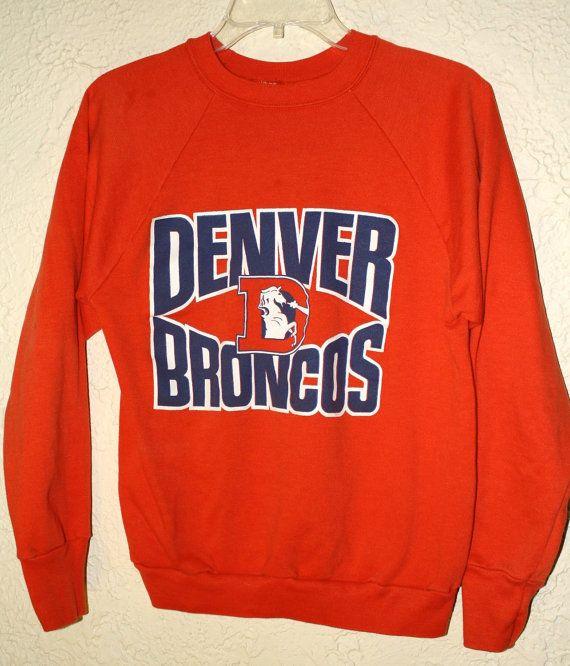 Vintage 1980's Denver Broncos Sweatshirt Medium on Etsy, $36.00