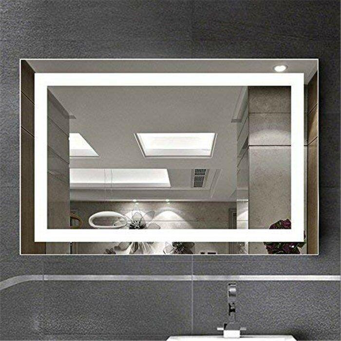 Monaco Frameless Lighted Bathroom Vanity Mirror In 2021 Bathroom Vanity Mirror Backlit Mirror Vanity Mirror