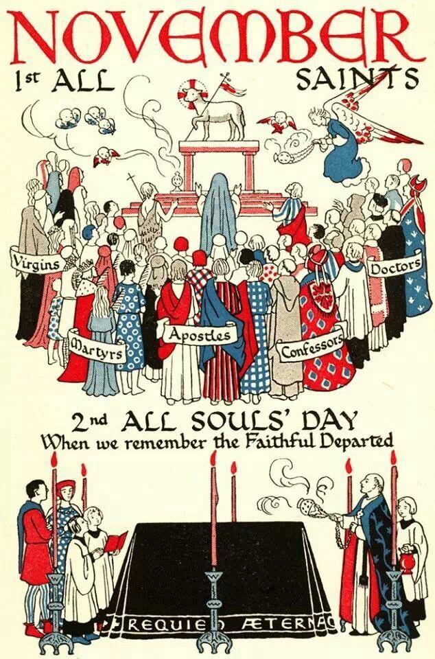 November. All Saints. All Soul's Day.