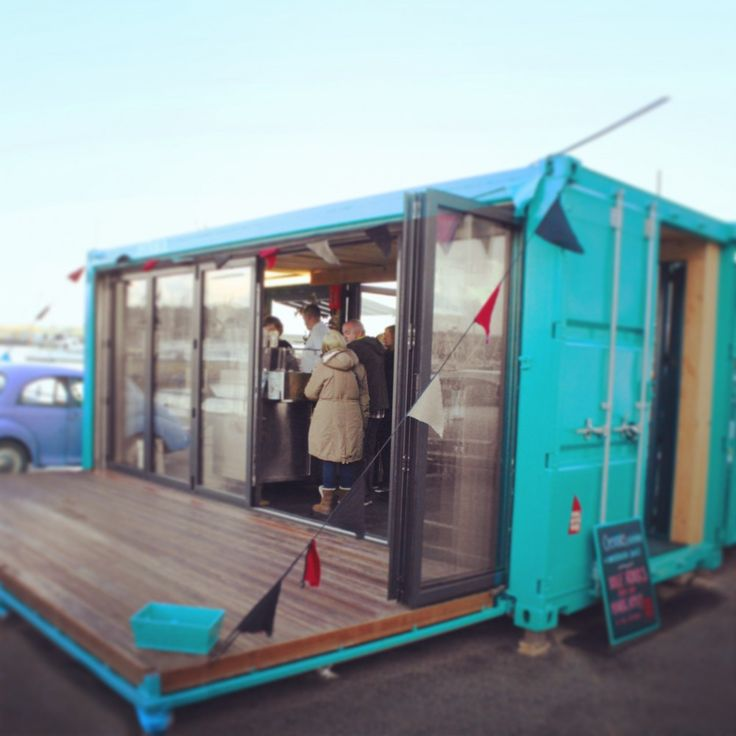 Pop Up Oyster Bar Made From A Recycled Shipping Container