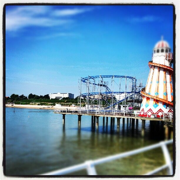 Clacton Pier in Clacton-on-Sea, Essex
