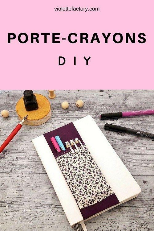 Je vous propose aujourd'hui de créer un porte crayons DIY pour votre carnet préféré ou encore votre Bullet Journal. Couture facile !