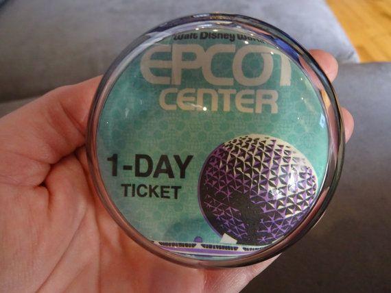 Vintage August 30 1988 Walt Disney World EPCOT CENTER Glass