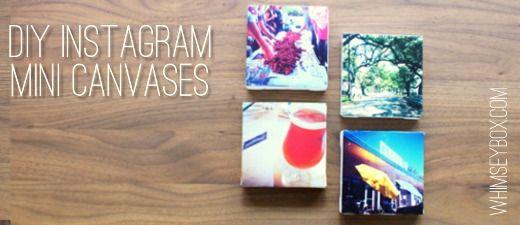 Instagram Art...next Mod Podge project!: Mini Instagram, Diy Crafts, Diy Canvas, Instagram Canvases, Mini Canvases, Diy Mini