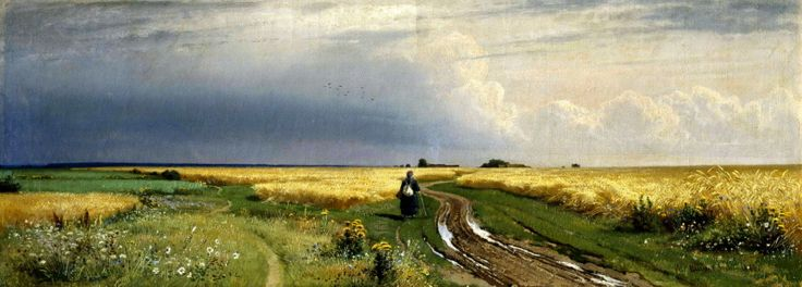 Shishkin Ivan - The road in the Rye. 200 Russian painters • download painting • Gallerix.ru