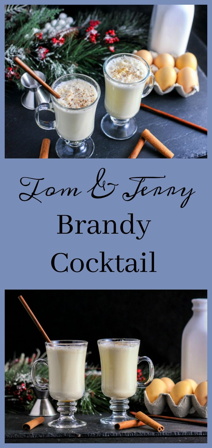 Tom & Jerry Brandy and Rum Cocktail // We prefer ours with only brandy & a generous sprinkling of fresh ground nutmeg. ~