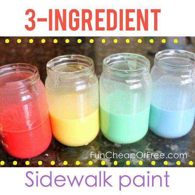 3 Ingredient Homemade Sidewalk Paint Recipe (Summer Boredom Buster!!)