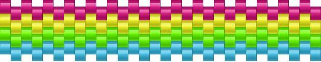 Beginners Rainbow Pony Bead Patterns | Simple Kandi Patterns for Kandi Cuffs