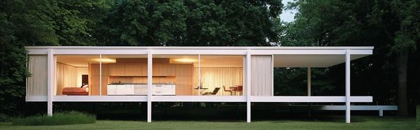 Mies Van Der Rohe, Farnsworth House. Plano, Illinois. 1945-51    A perfect home. I honestly love this.