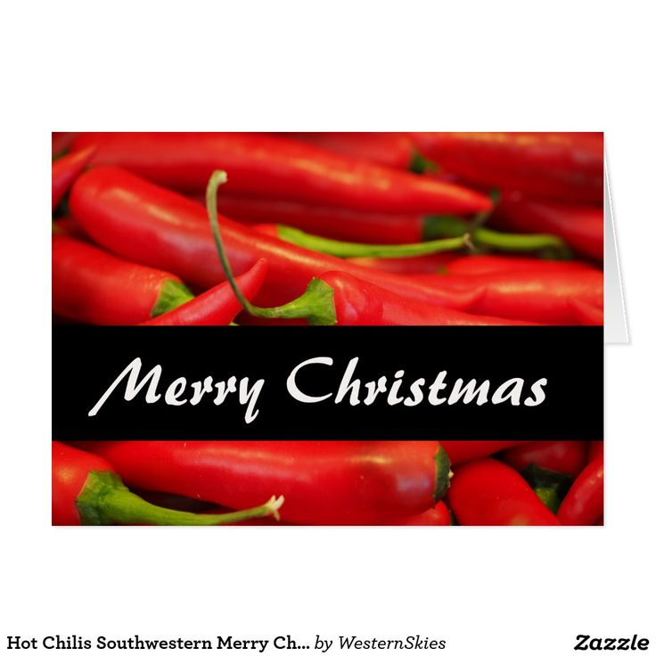 Hot Chilis Southwestern Merry Christmas Card | Greetings Cards by ...