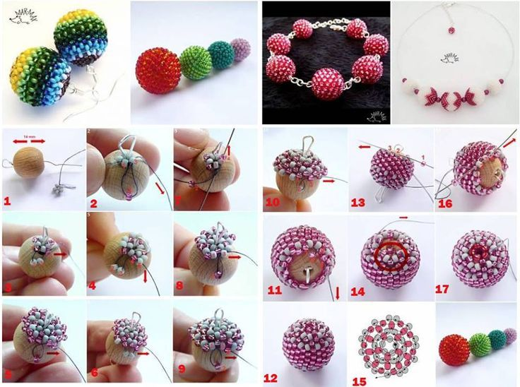 Miçangas cobertas com miçangas: Essa é uma técnica simples e que fica show em brincos e pingentes. Veja o passo a passo de miçangas cobertas com miçangas.