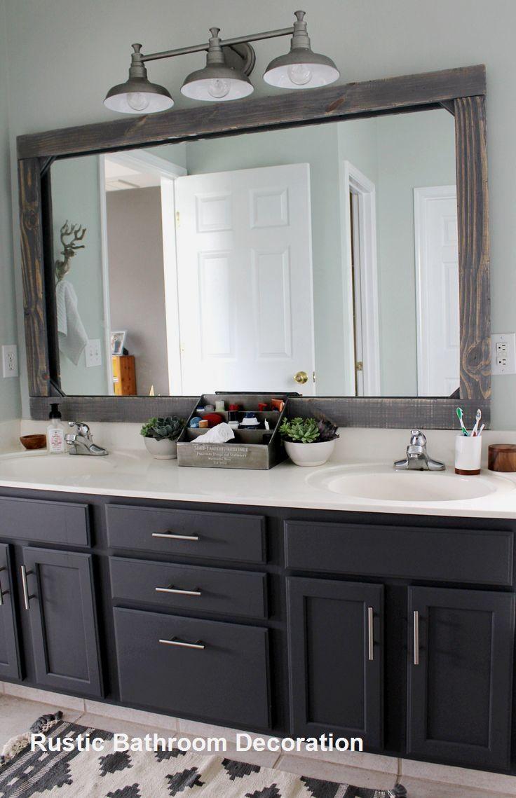 New Rustic Bathroom Decoration Bathroomdecor Bathroom Mirror