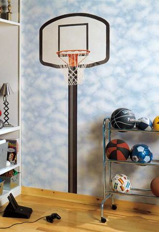 As a kid, how happy would you be as basketball fan an kid waking up in a cool room like this! I always dreamed to have a theme room and still do! :D Check out my board for more sporty inspiration for your kids :D