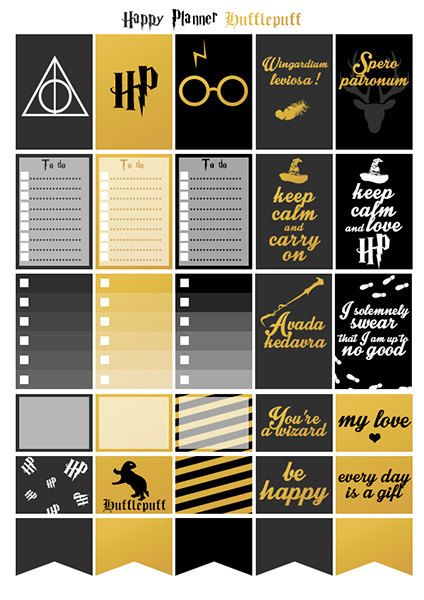 Printable stickers Harry Potter Hufflepuff by Lateliercreatif06 Mehr